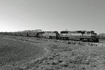 BNSF 9550 heads Up an empty ore train.